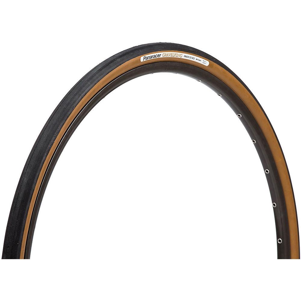Image of Panaracer Gravel King Folding Tyre - 700c - Black / Brown / 700c / 32mm / Clincher