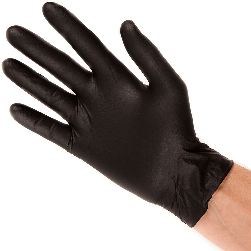 Image of Gants Black Mamba Nitrile Workshop - Boite de 100 - Noir, Noir