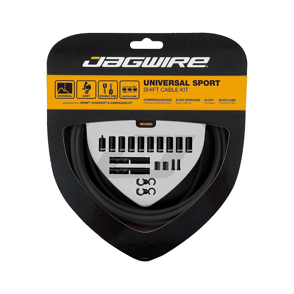 Jagwire Universal Sport Gear Cable Kit - Black  Black