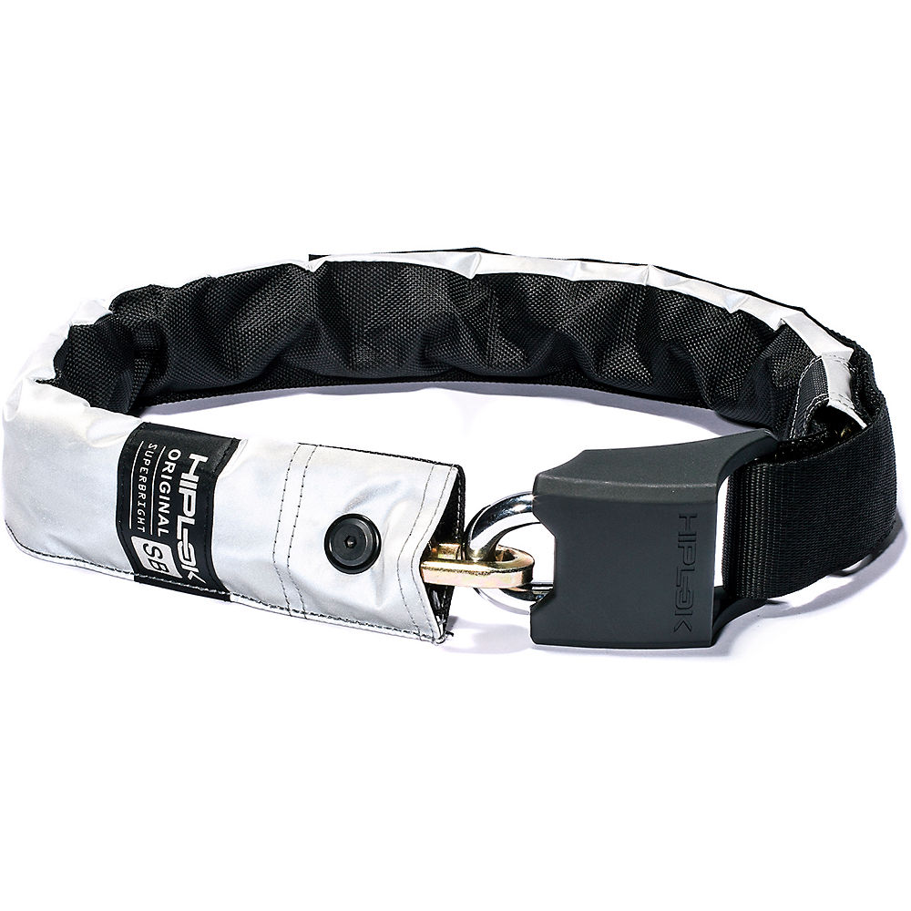 Hiplok Original Bicycle Chain Lock - Superbright Reflective - Sold Secure Silver Rated  Superbright Reflective