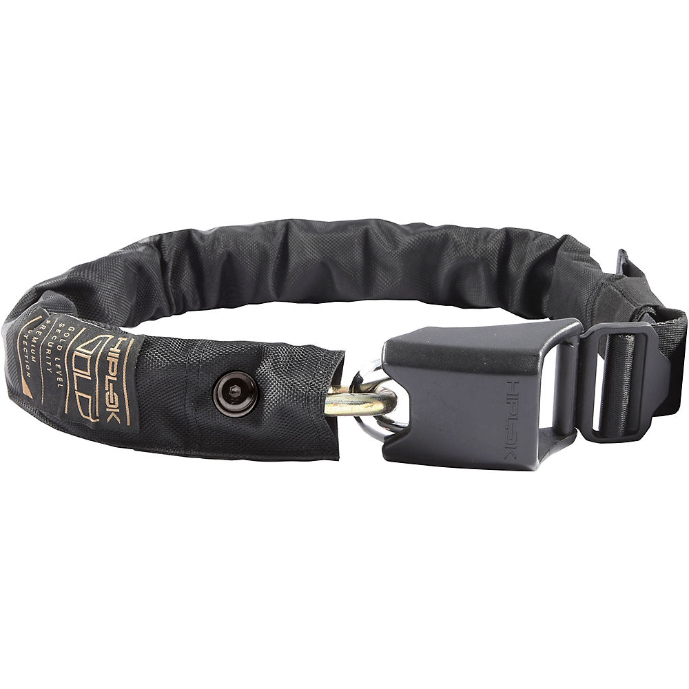 Hiplok Gold Wearable Bicycle Chain Lock - Black - Sold Secure Gold Rated  Black