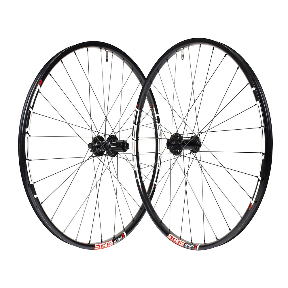 Stans No Tubes Crest Mk3 Mtb Wheelset - Black - 15 X 110mm Frontand148 X 12mm Rear  Black