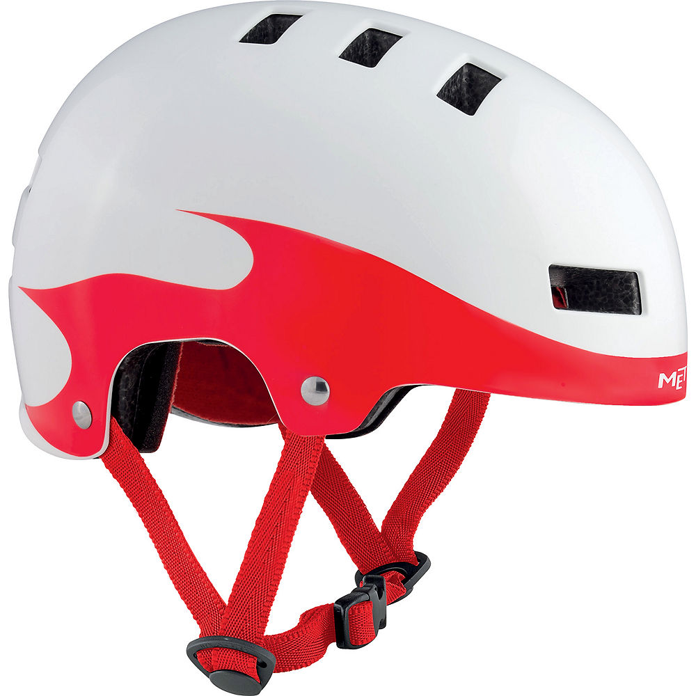 Met Yoyo Helmet 2017 - White - Red Flame - S  White - Red Flame
