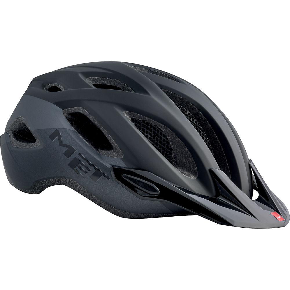 MET Crossover Helmet 2018 - Matt Black - One Size, Matt Black