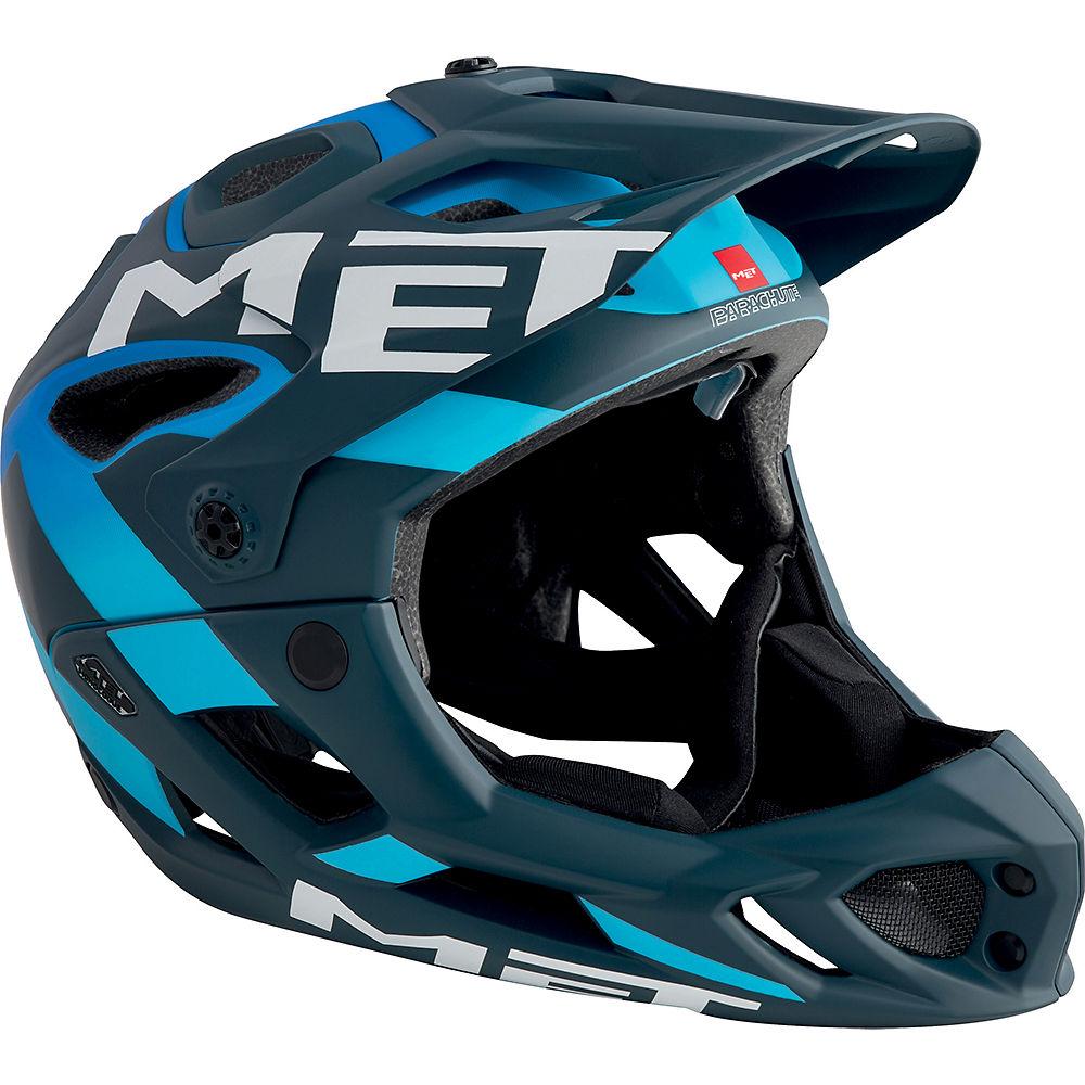 MET Parachute Helmet 2018 – Blue – Cyan – S, Blue – Cyan