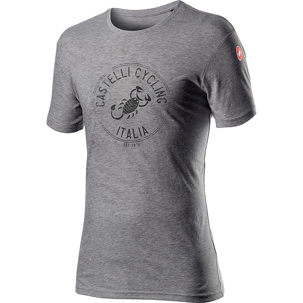 Castelli Armando T-shirt - Melange Vortex Grey, Melange Vortex Grey