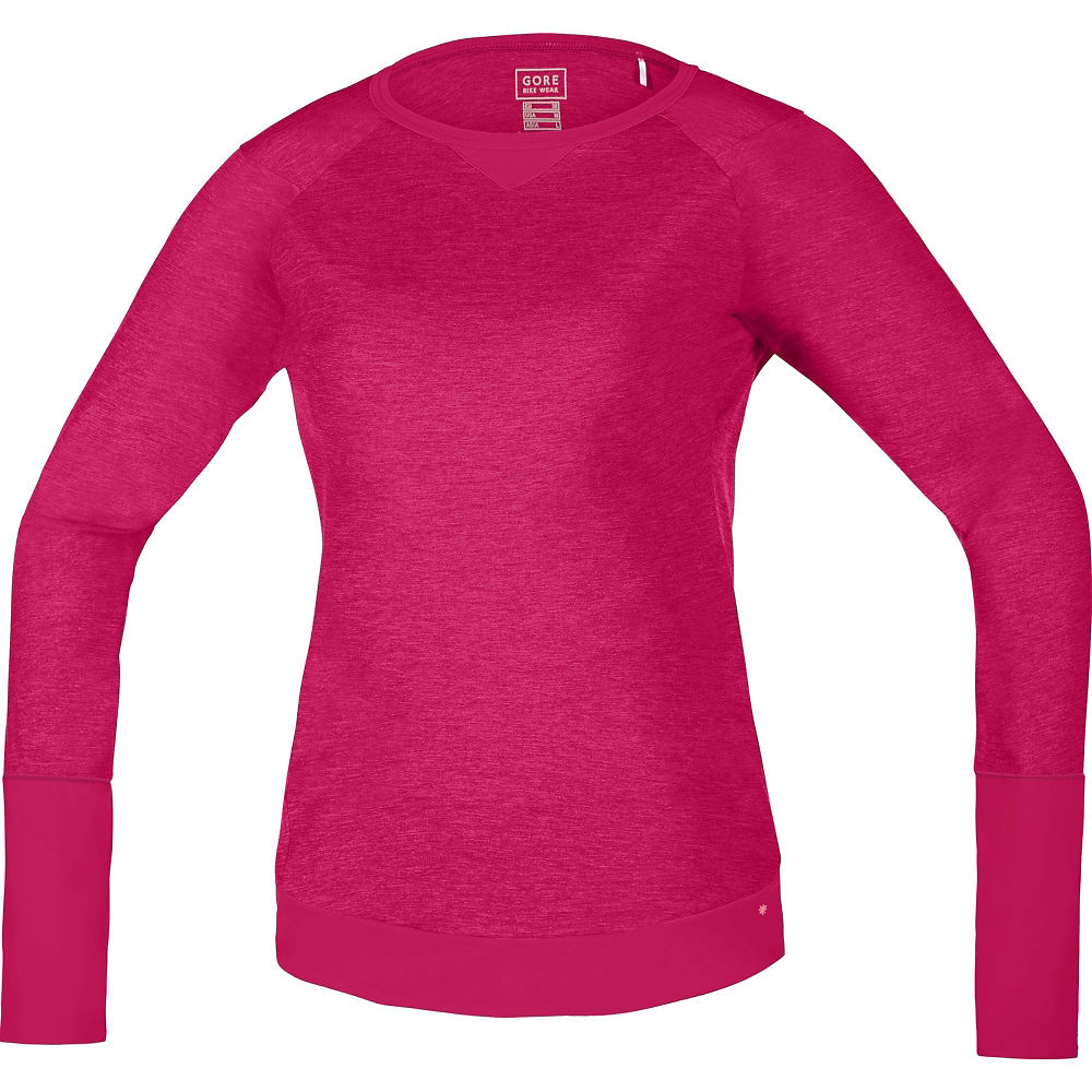 Image of Maillot à manches longues Gore Power Trail Femme - Rose jazzy, Rose jazzy