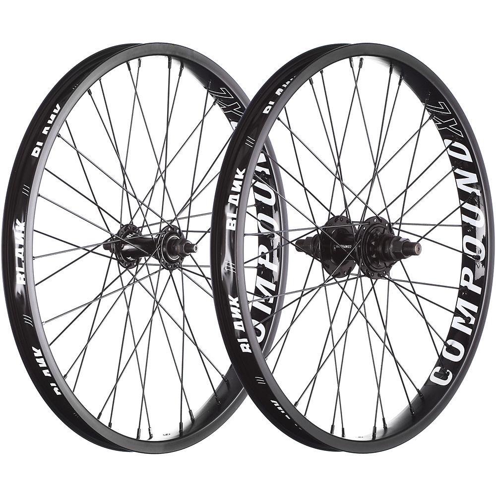 Blank Compound XL BMX Wheelset – Black – 20″, Black