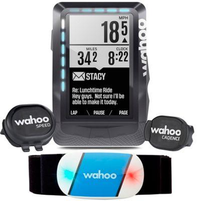 Conjunto de ciclocomputador GPS Wahoo ELEMNT - Negro, Negro