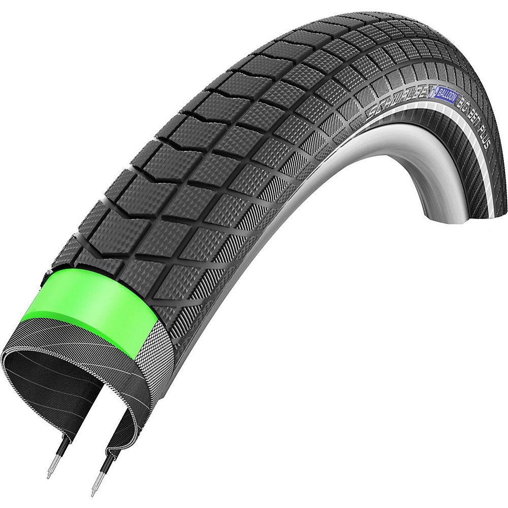 Schwalbe Big Ben Plus GreenGuard MTB Tyre - Black Reflex - Wire Bead, Black Reflex