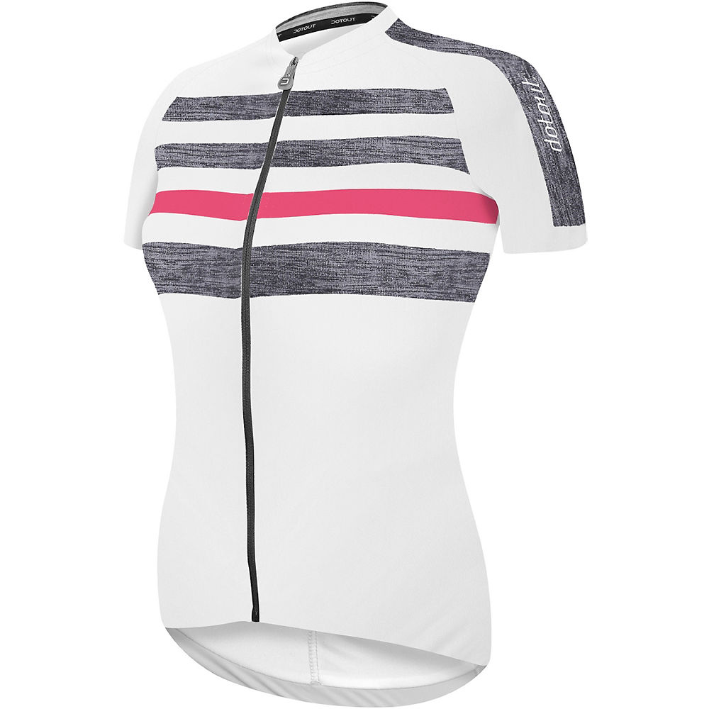 Image of Maillot Dotout Stripe Femme - Blanc
