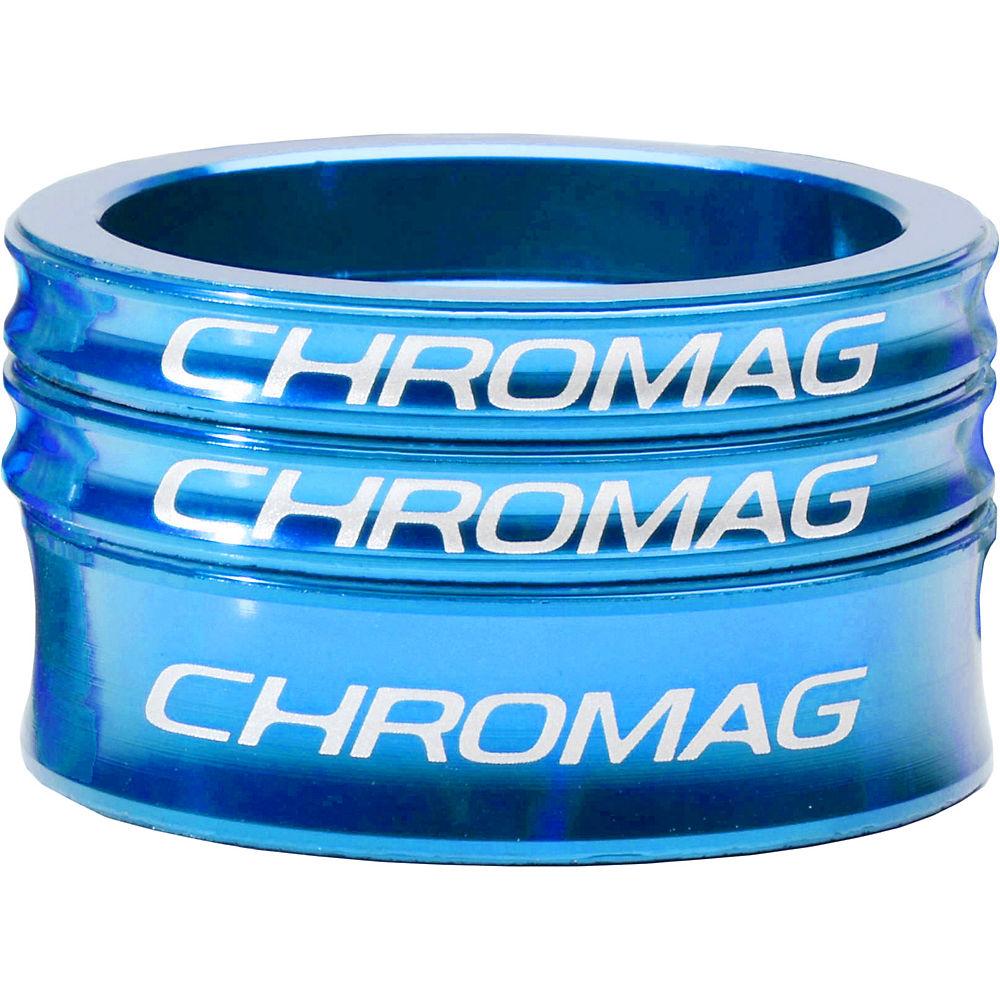 Chromag Headset Spacer Kit - Blue - 1.1/8  Blue
