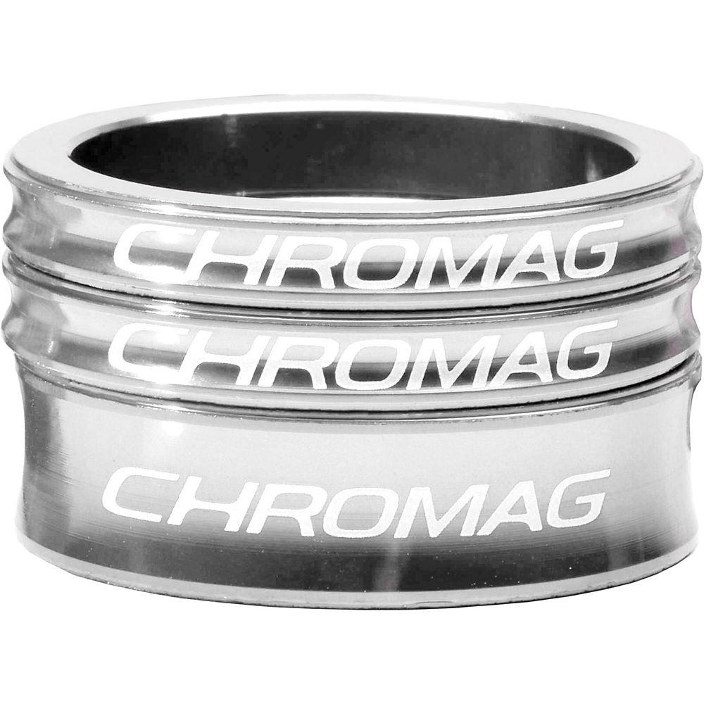 Chromag Headset Spacer Kit - Polished Silver - 1.1/8  Polished Silver