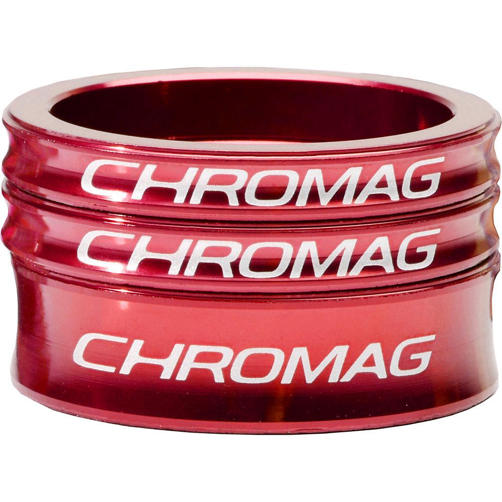 Chromag Headset Spacer Kit - Red - 1.1/8  Red