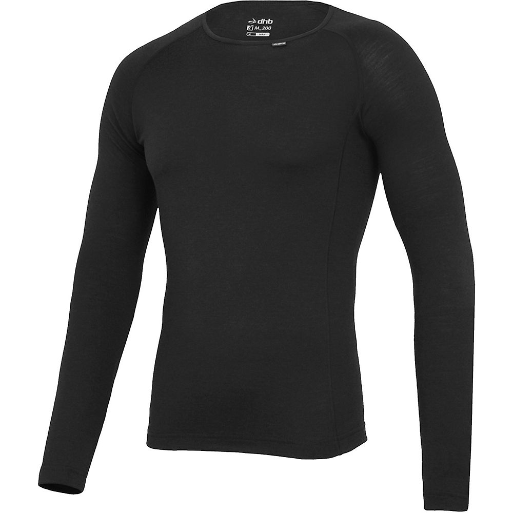 Camiseta interior de manga larga dhb Merino - Gris oscuro - XXL, Gris oscuro