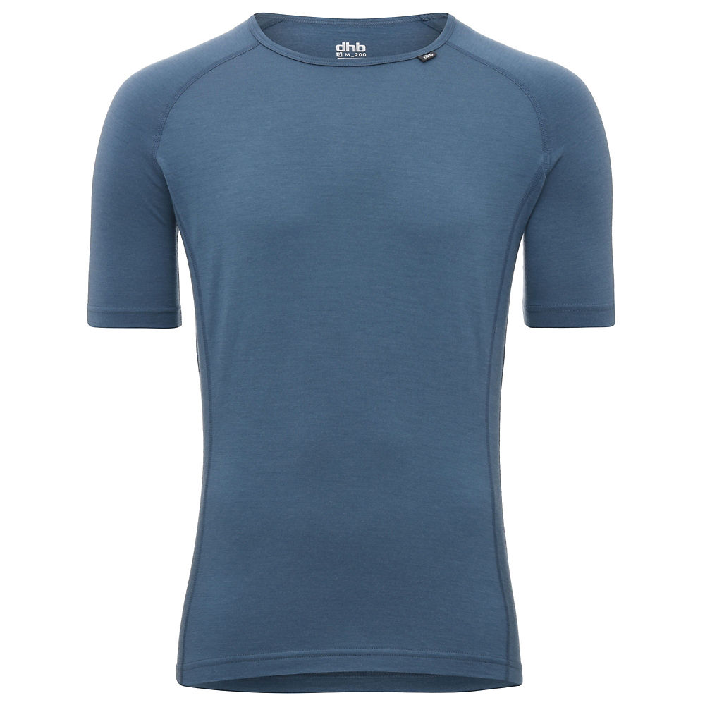Dhb Merino Short Sleeve Base Layer (m_200) - Sky Blue - Xxxl  Sky Blue