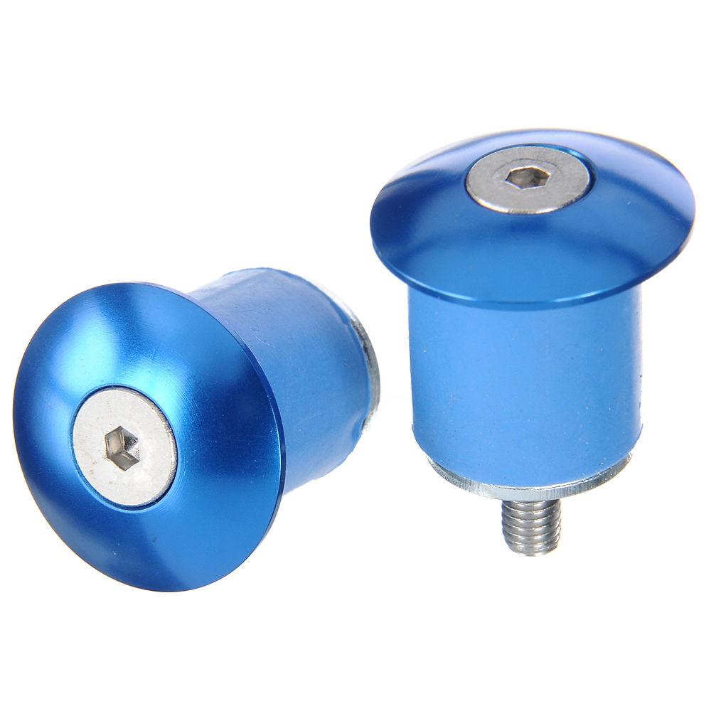 Tapones de manillar de aluminio atornillables LifeLine - Azul - Pair, Azul