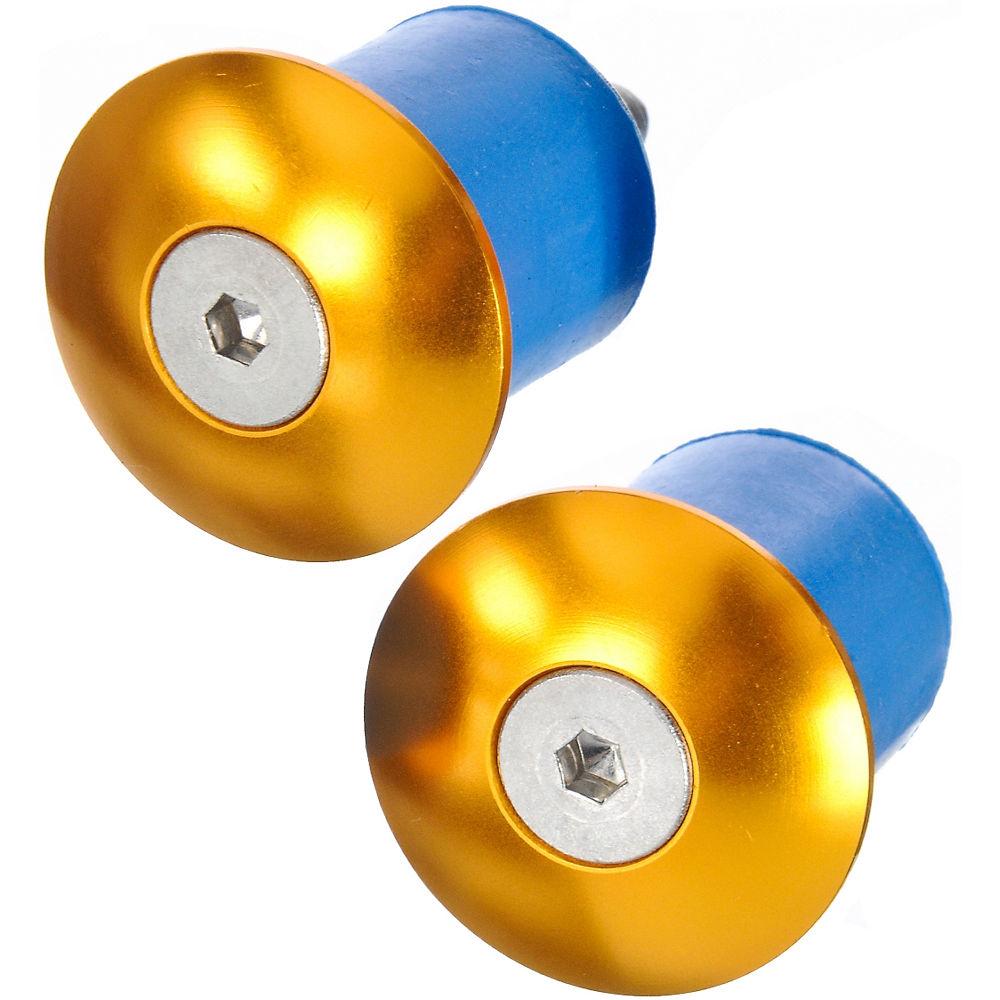 Tapones de manillar de aluminio atornillables LifeLine - Dorado - Pair, Dorado