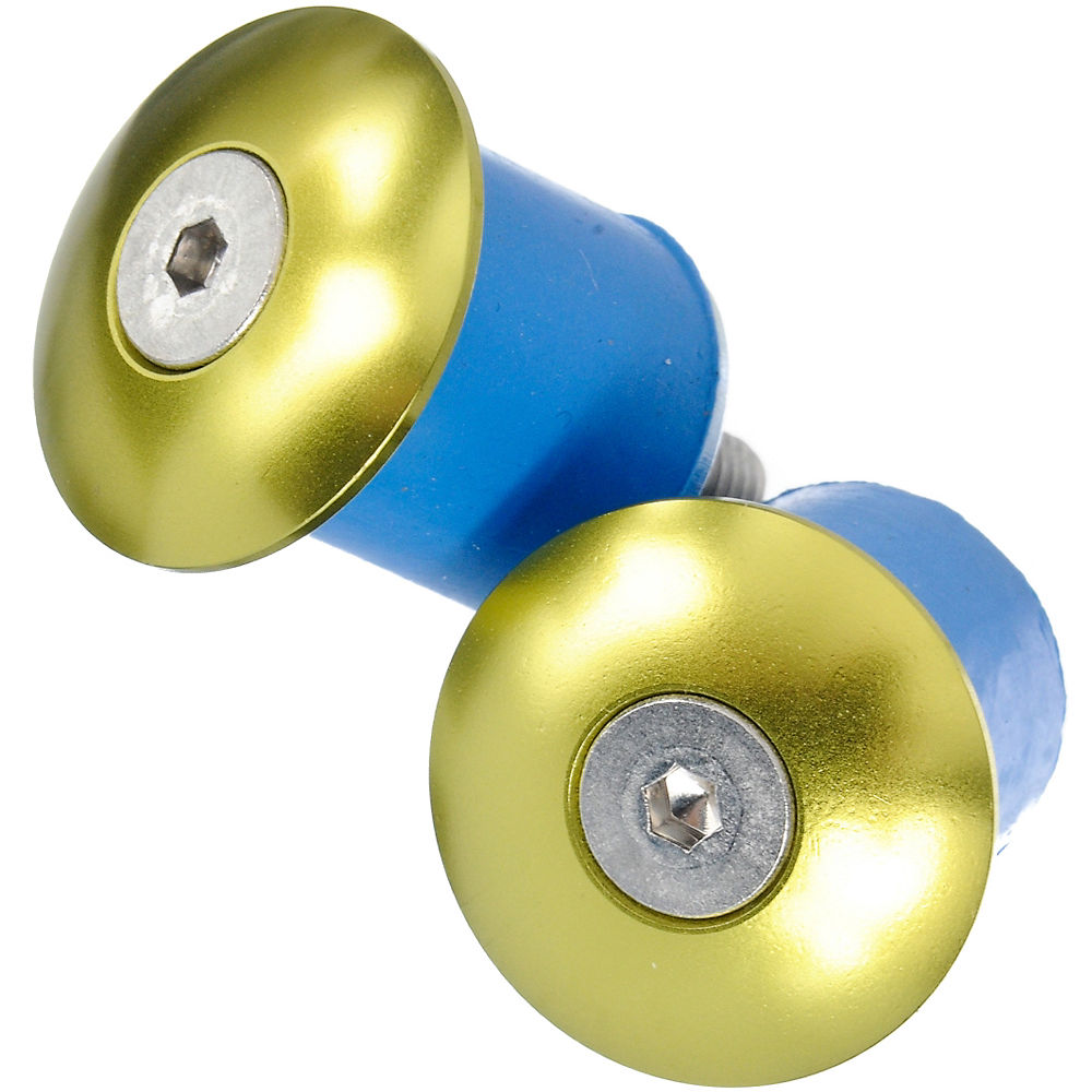 Tapones de manillar de aluminio atornillables LifeLine - Verde - Pair, Verde