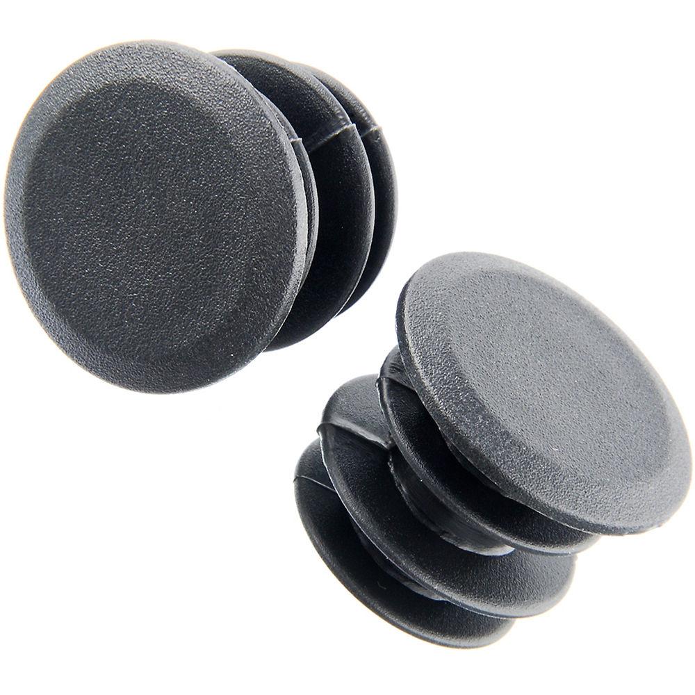 Tapones de manillar de ajuste a presión LifeLine (plástico) - Negro - Pair, Negro