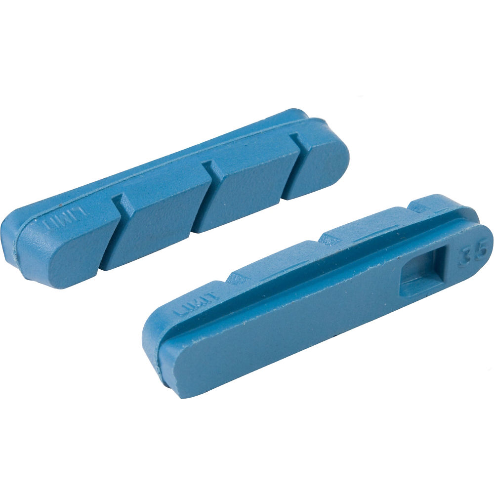 LifeLine Performance Carbon Road Brake Inserts - Blue - Shimano - Pack of 4, Blue