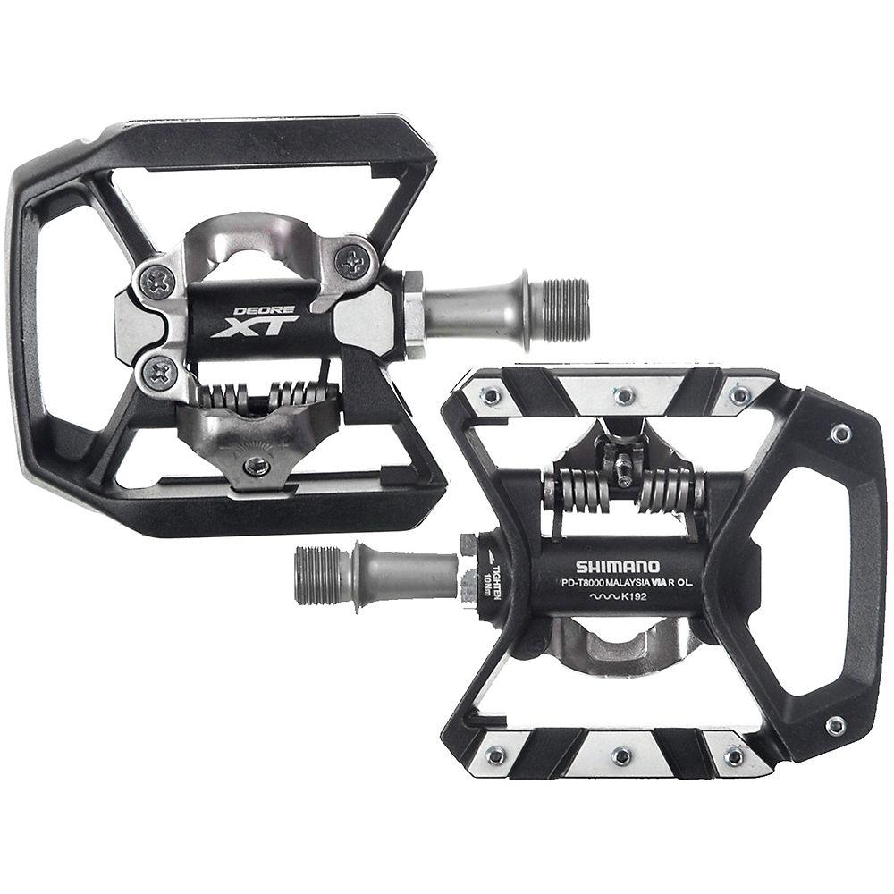 Shimano Xt T8000 Spd Trekking Pedals - Black  Black