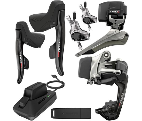 SRAM Red eTap 2 x11 Hydraulic WIFLI Groupset | Chain Reaction Cycles
