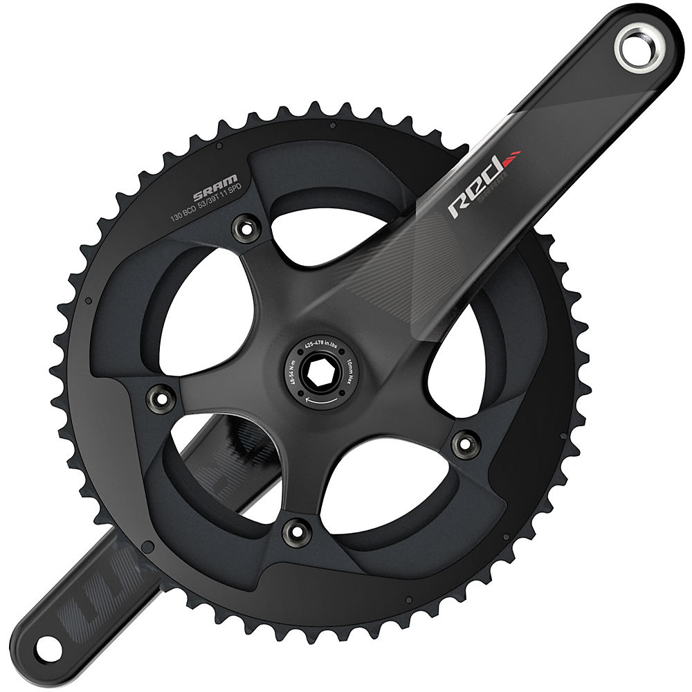 Sram Red Gxp Compact 11 Speed Road Chainset - Black - 53.39t  Black