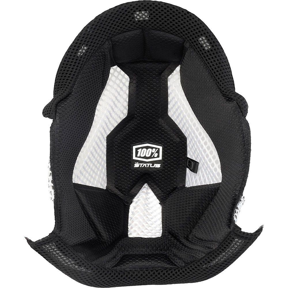 100% Status Helmet Comfort Liner - Black - 10mm (XL), Black