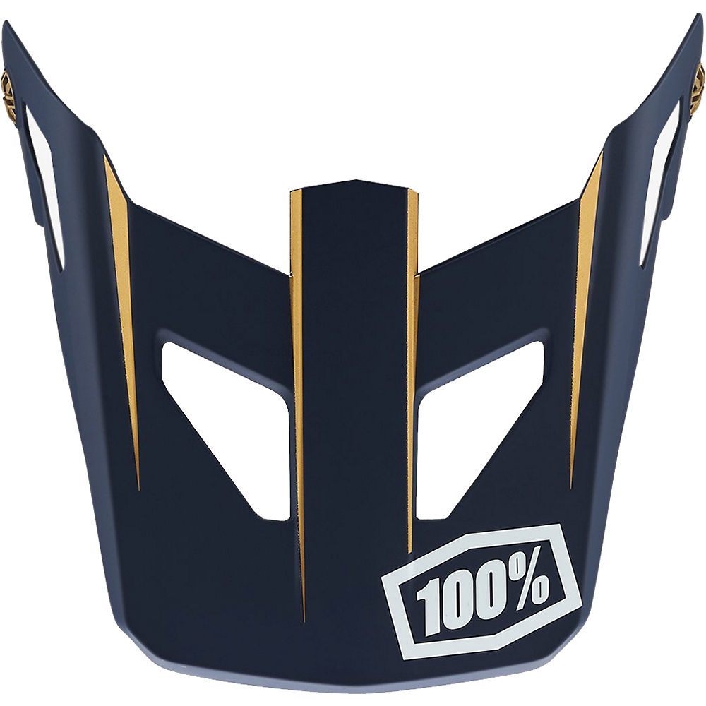 100% Status Helmet Replacement Visor - Navy - One Size  Navy