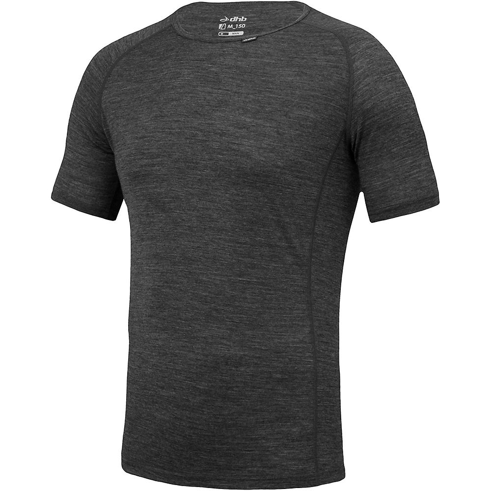 Dhb Merino Short Sleeve Base Layer (m_150) - Grey - Marl - Xl  Grey - Marl