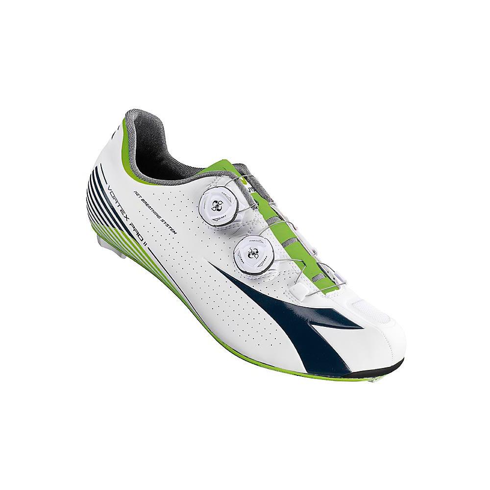 Image of Chaussures de route Diadora Vortex Pro II (SPD-SL) - White - Blue - Acid Green, White - Blue - Acid Green