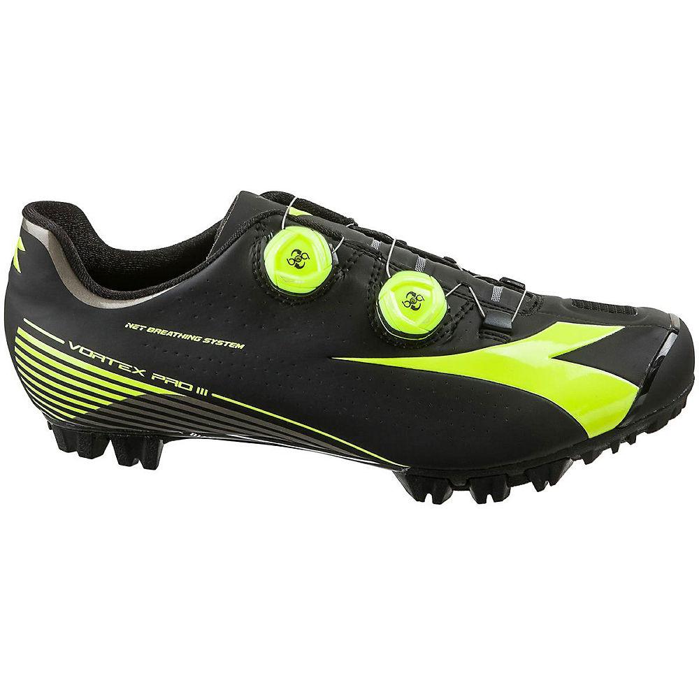 Image of Chaussures VTT Diadora X Vortex-Pro II (SPD) - Noir - Jaune Fluo - EU 40, Noir - Jaune Fluo