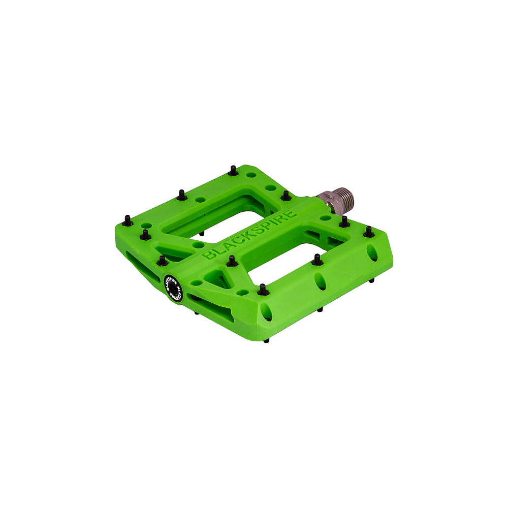 Blackspire Nylotrax Flat Pedals - Lime Green, Lime Green