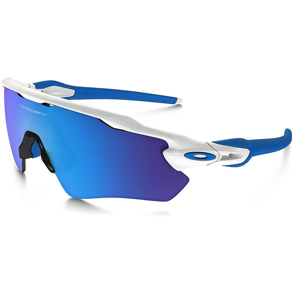 Image of Occhiali da sole bambini Oakley Radar EV XS Path - bianco lucido - zaffiro Iridium, bianco lucido - zaffiro Iridium