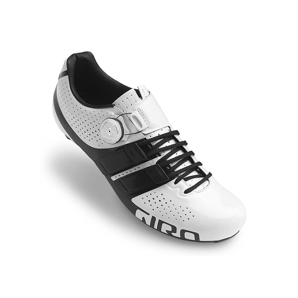 Giro Factor Techlace SPD-SL Road Shoes - White-Black 19 - EU 48, White-Black 19