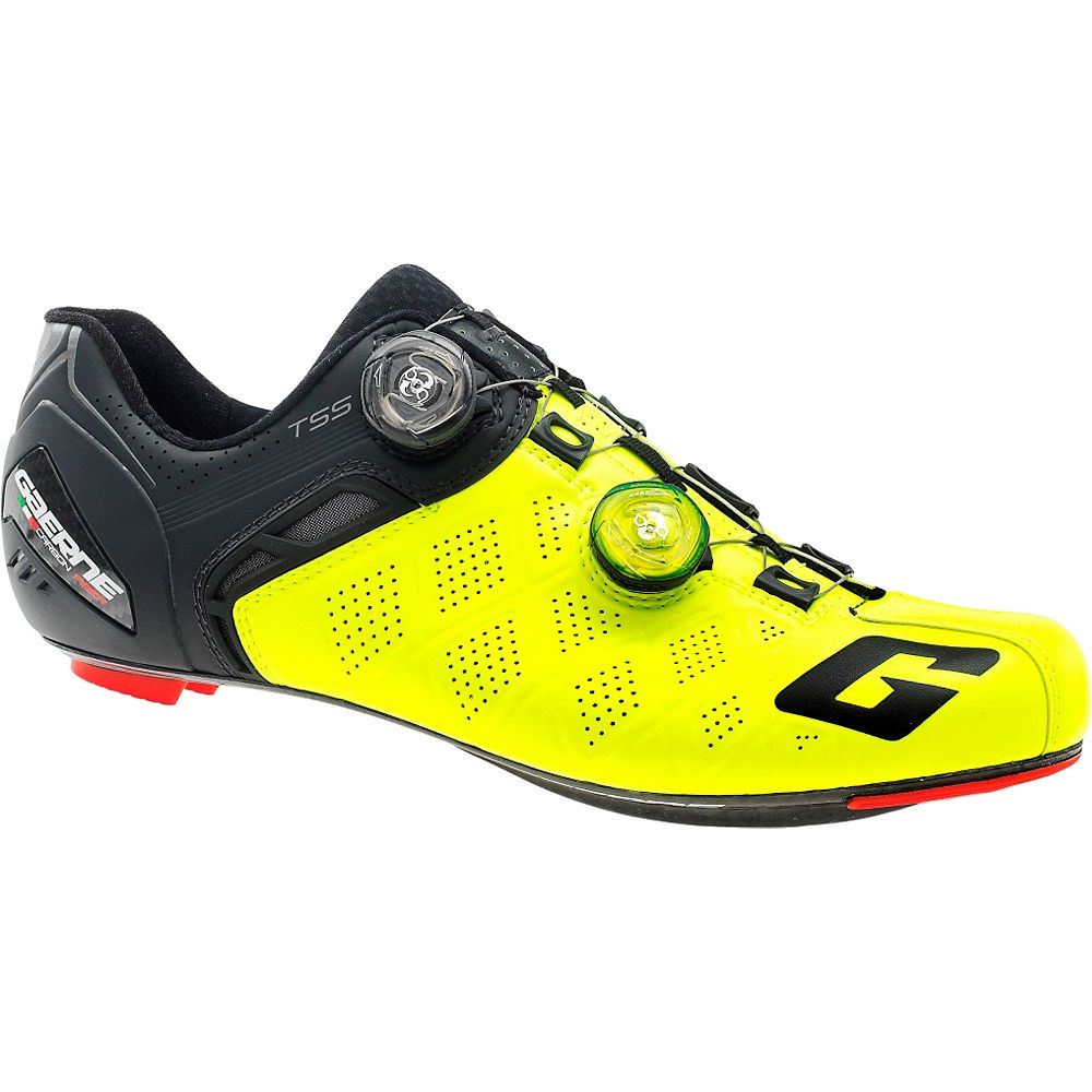 Image of Chaussures de route Gaerne Carbon Stilo+ SPD-SL 2018 - Jaune - EU 39, Jaune