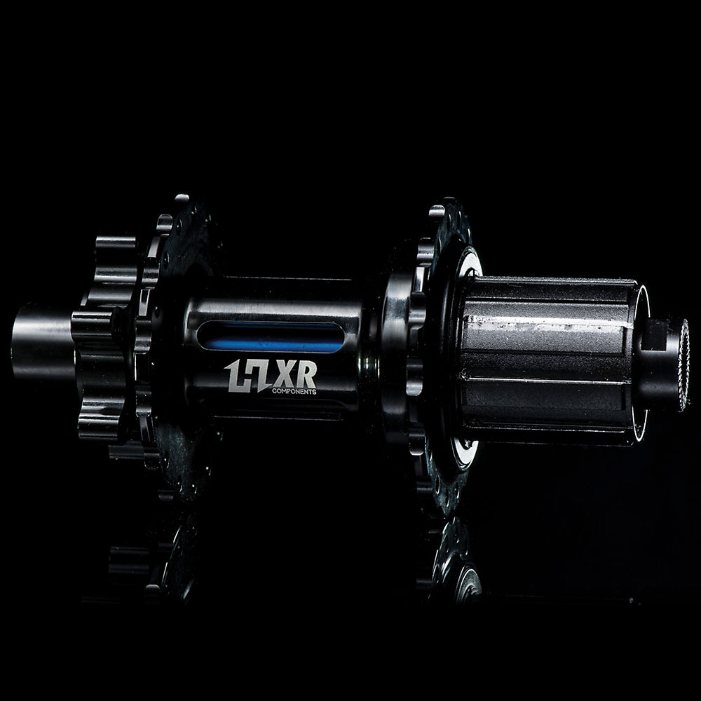 Image of Moyeu arrière VTT HxR Components Shimano - Bleu - 135/142 x 12mm
