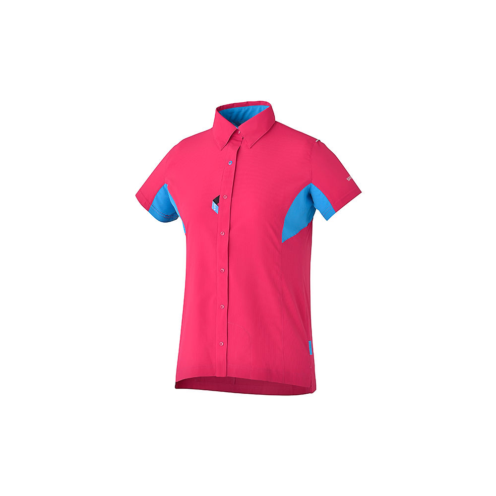 Shimano Womens Button Up Shirt  - Red, Red