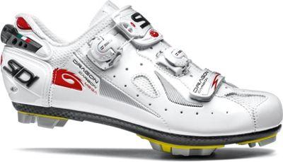 Zapatillas de carbono de MTB Sidi Dragon 4 SRS SPD (Mega) - Blanco - Blanco - EU 48, Blanco - Blanco