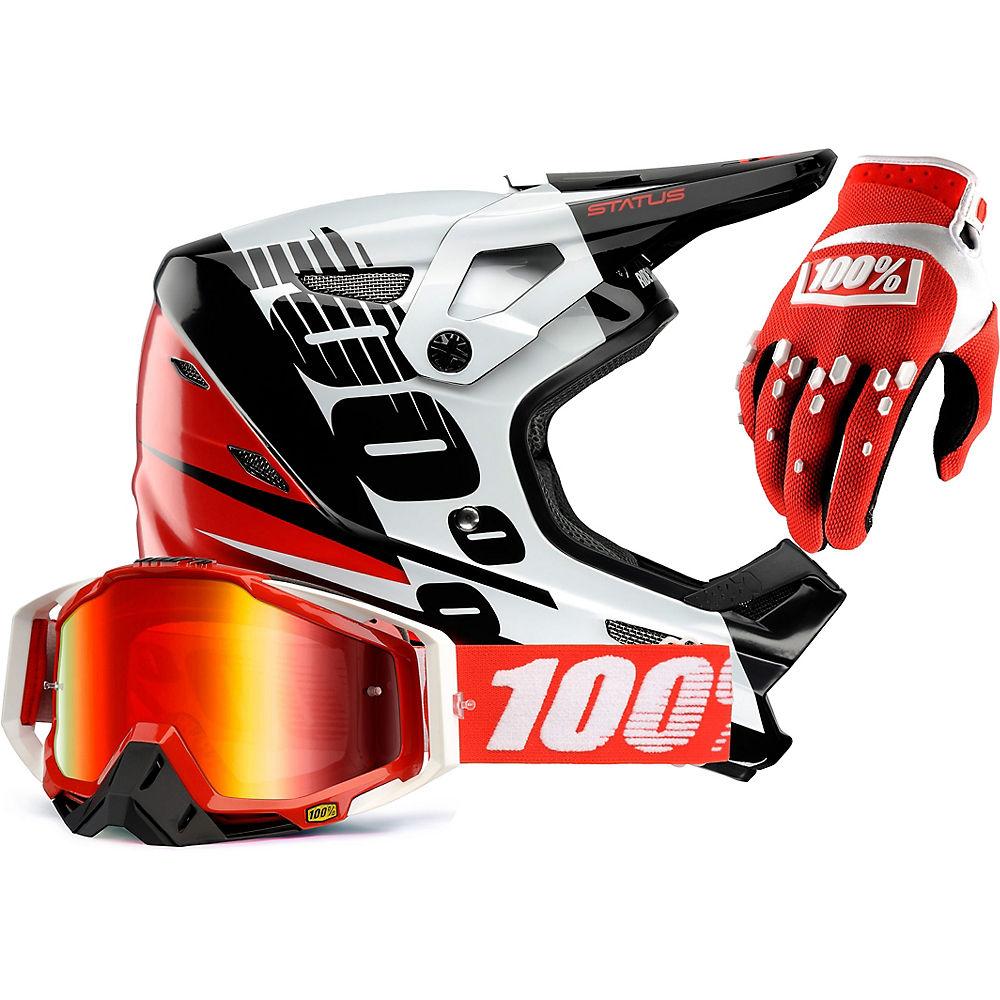 100% Status Helmet & Goggle Bundle