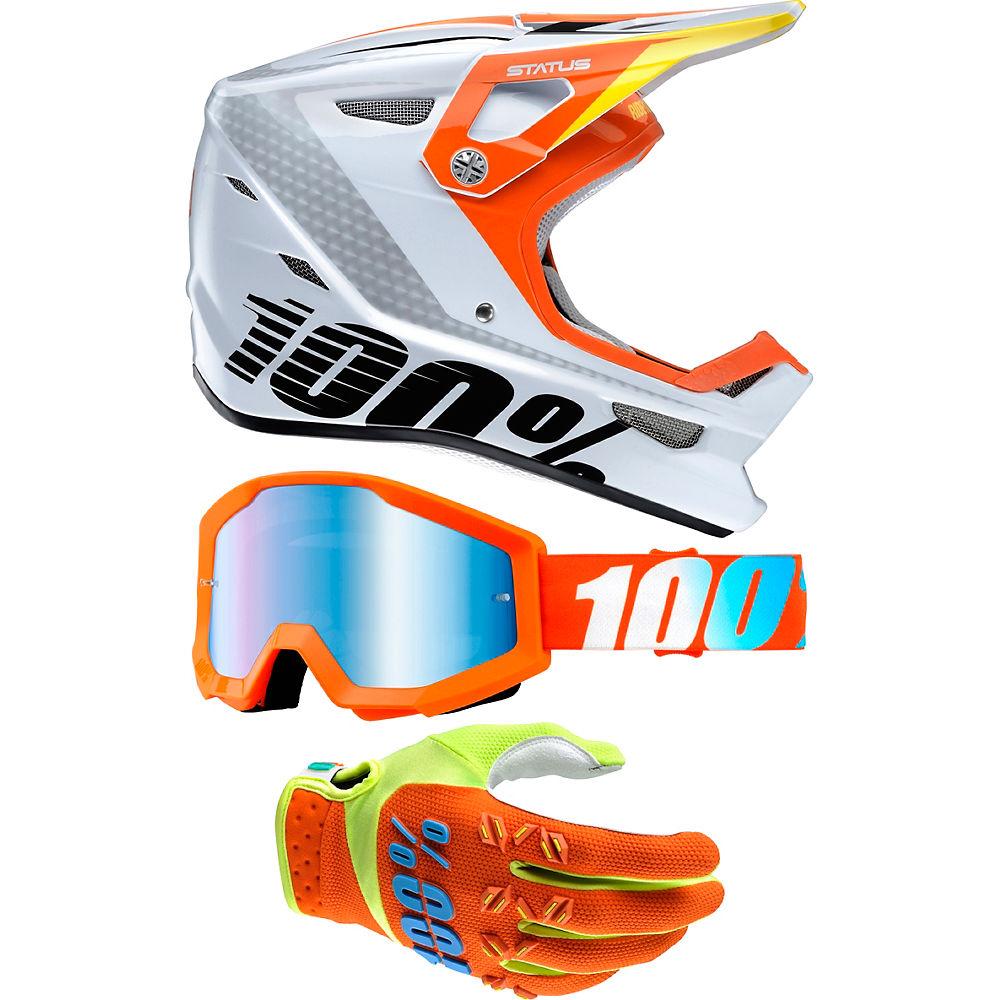 100% Status Youth Helmet & Goggle Bundle