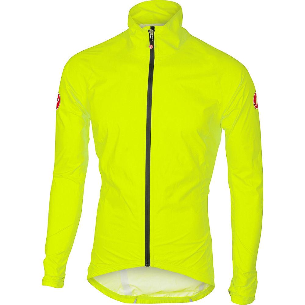 Giacca antipioggia Castelli Emergency - giallo fluorescente, giallo fluorescente