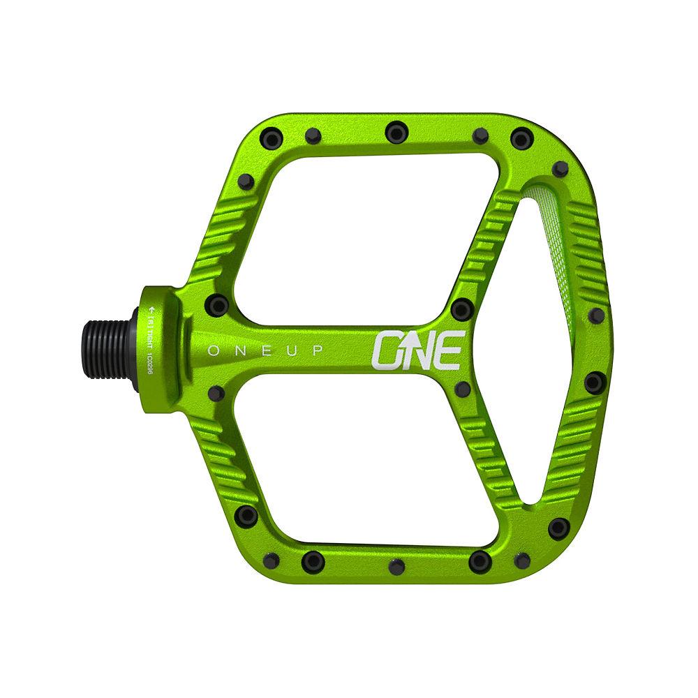 OneUp Components Aluminium Flat MTB Pedals - Green, Green