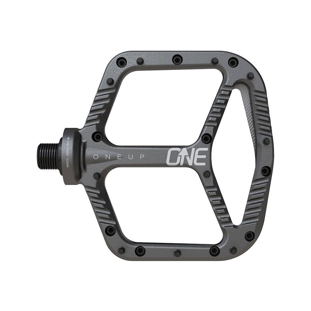 OneUp Components Aluminium Flat MTB Pedals - Grey, Grey