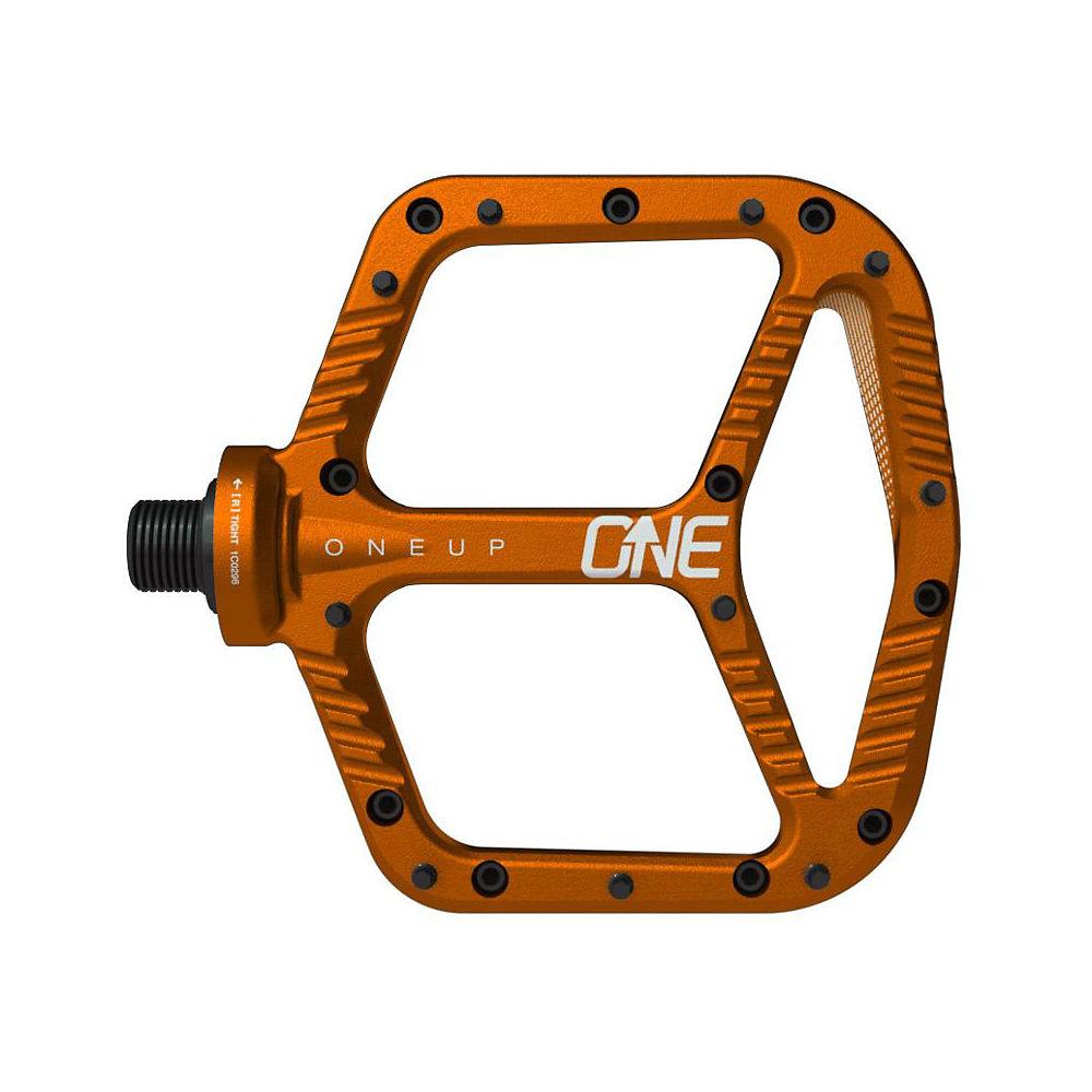 OneUp Components Aluminium Flat MTB Pedals - Orange, Orange