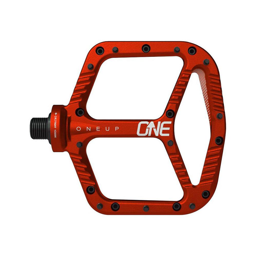 OneUp Components Aluminium Flat MTB Pedals - Red, Red