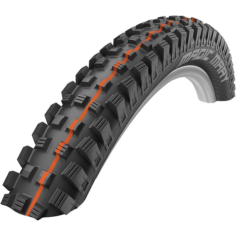 Schwalbe Magic Mary Addix MTB Tyre - SnakeSkin - Black - Orange - Folding Bead, Black - Orange