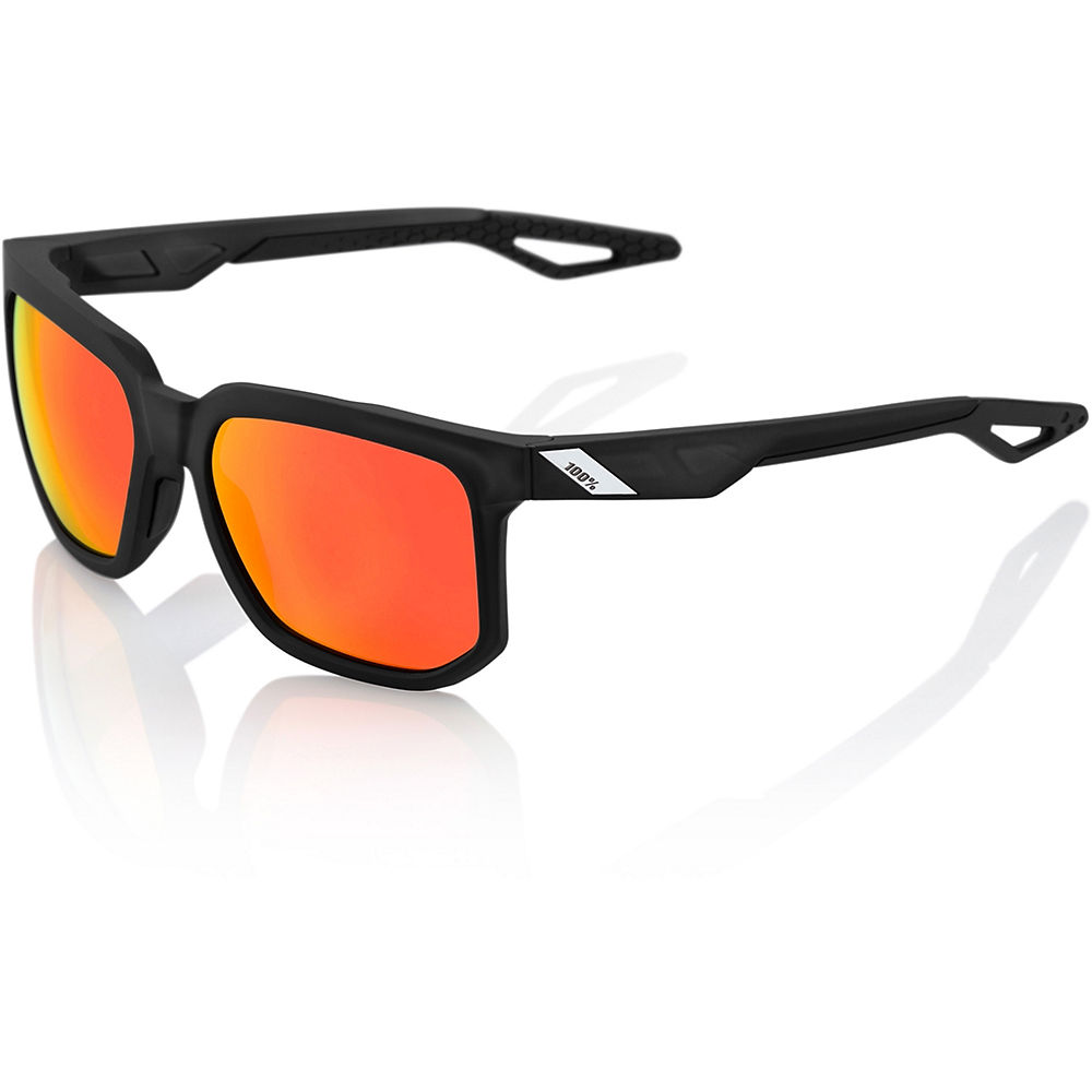 100% Centric Sunglasses - Crystral Black - HD Red Mirror, Crystral Black - HD Red Mirror