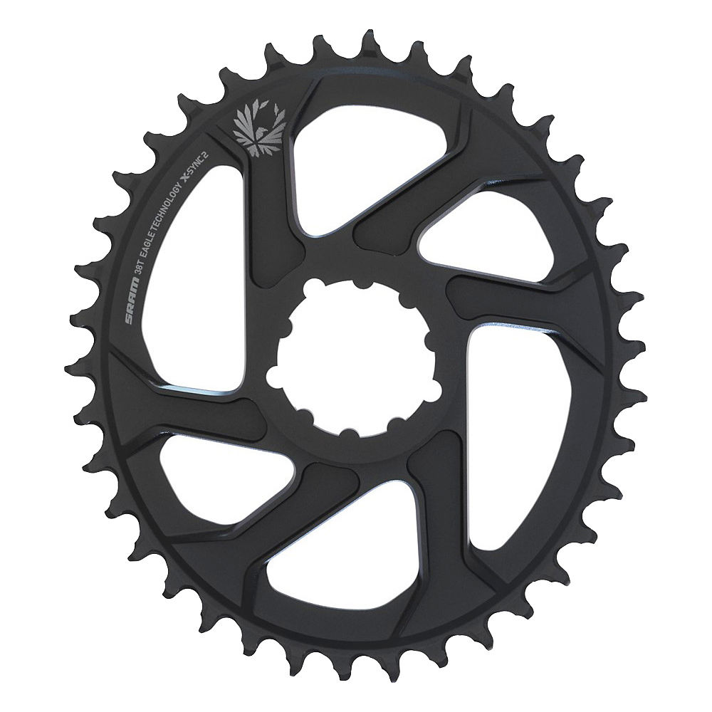 Sram X-sync Eagle Oval Dm Chainring - Black - 3mm Offset Boost  Black